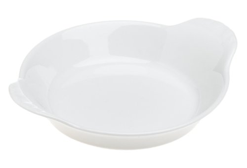 Pillivuyt 5 Inch Round Eared Dish, White