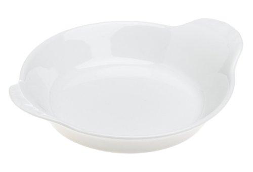 Pillivuyt 5 Inch Round Eared Dish, White