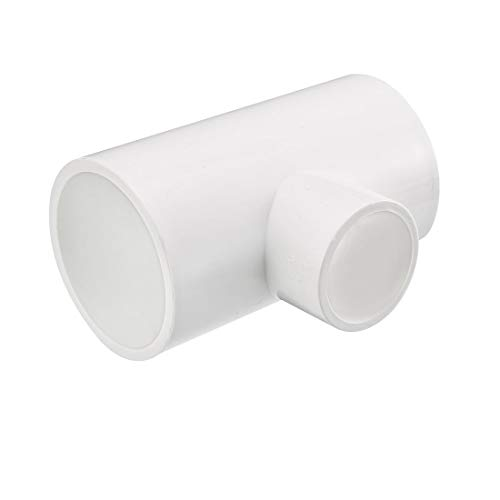 (uxcell 40mm x 40mmx 25mm Slip Reducing Tee PVC Pipe Fitting T-Shaped Connector 2 Pcs)