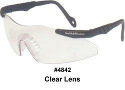 (Smith&Wesson Magnum 3G Safety Glasses Mini Black Frame Clear Lens (Set of 1/EA))