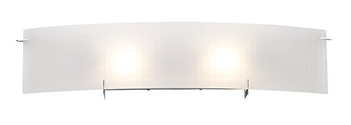 durable modeling Access Lighting 62052-CH Oxygen 2-Light Wall/Vanity Sconce, Chrome with Checkered Frosted Glass