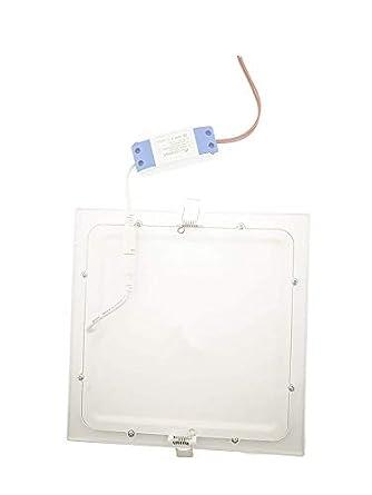 Placa LED Cuadrada 20W Panel Superslim Blanco Fr/ío 6000k-6500k Empotrado ONSSI LED Pack 2