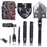 Otplore Folding Tactical Camping Shovel - Heavy Duty Compact Multitool Military Survival Shovel for Camping Backpacking Hiking Car Emergency, 32''