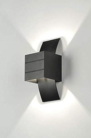 Moderne Noir Mat Design Lumidora Applique Murale Tl31JFKc