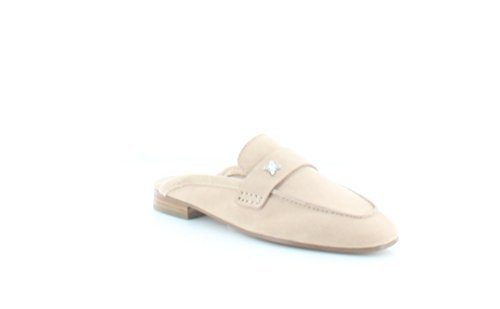 BCBGeneration Womens Sabrina Suede Square Toe Mules, Tan, Size 5.0