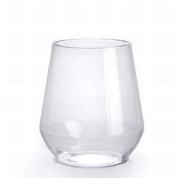 12oz. Stemless Plastic Wine Goblet 16 Count