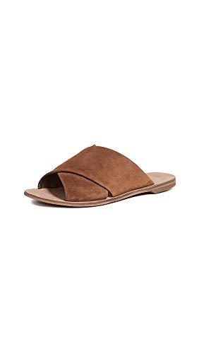 Diane von Furstenberg Women's Bailie Slides, Nutmeg, Brown, 8 M US (Dvf Shoes)