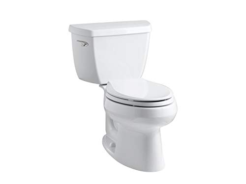 Kohler K-3575-0 Wellworth Classic 1.28 gpf Elongated Toilet with Class Five Flushing Technology and Left-Hand Trip Lever, White