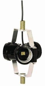 - Satco Item 90-463, 3 Light Cluster Socket 1 3/4'' 1/8 IP Threaded Bottom Bracket with 5/8'' Nipple