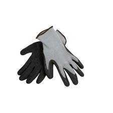 Black Rubber Coated Palm Knit Work Gloves X-Large 1 Min