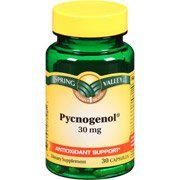 Spring Valley Pycnogenol Dietary Supplement Capsules, 30mg, 30 Count by Spring Valley