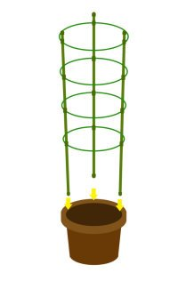Mr.Garden Mini Trellis Garden Trellis for Potted Climbing Plants Support 7'' Dia x 8.1'' Dia x 9'' Dia x 10.23'' Dia x 35.4'' H,4 Rings, 3 Sets by Mr Garden