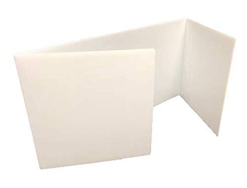 Corrugated Study Carrel - White Premium Study Carrels, Pack of 12