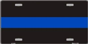 - Thin Blue Line Metal License Plate Police Officers