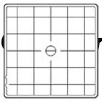 Hasselblad Focusing Screen Acute-Matte D with Split Image and Architectural Grid #42217 ()