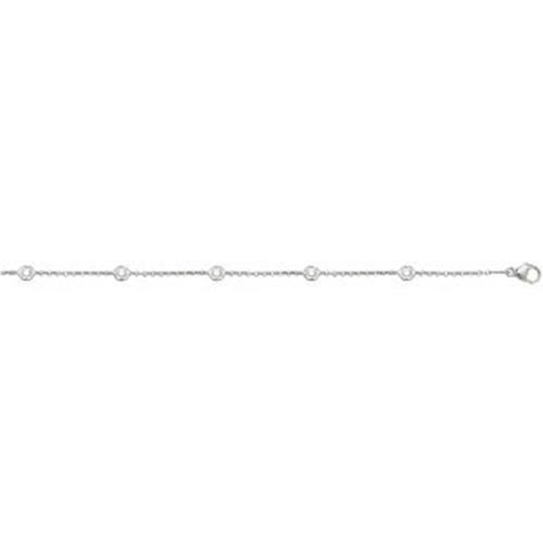 Diamant Bracelet 6,5/19,1cm GH or blanc 18carats Pureté SI20,35carats