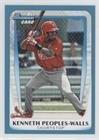 Kenneth Peoples-Walls #190/499 (Baseball Card) 2011 Bowman Draft Picks & Prospects - Prospects - Blue #BDPP7