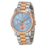 Michael Kors Women's Runway Watch, Silver/Rose Gold/Chambray, One - Michael Gold Silver Kors And