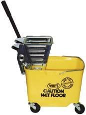 (Impact PRO-Y Pro-Pac Metal Squeeze Wringer/Plastic Bucket Combo with 3