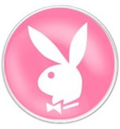 Playboy Bunny Tongue Ring Barbell Bar Piercing 14g (Pink)