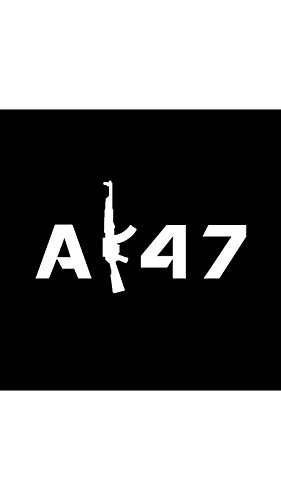 Price comparison product image AK47 Vinyl Decal Sticker / Car Truck Van Wall Laptop / WHITE / 7 In / KCD688
