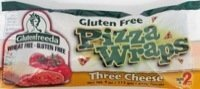 GlutenFreeda Three Cheese Pizza Wrap 4 Ounce (Pack of 12) - Pack Of 12 (White Rice Pizza)