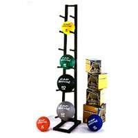 CAP Barbell Medicine Rack w/ Ball Set Rubberized Medicine Balls with Ball Contemporary Storage Rack (Rubber Medicine Ball Set)