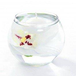 Compo Orchidée Vase avec Bougie