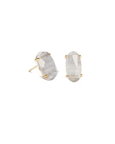 Kendra Scott Betty Stud Earrings in Gold and Slate Cats Eye ()