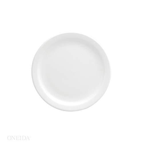 Oneida Buffalo Bright White Narrow Rim Plate, 7 1/4 inch - 36 per case.