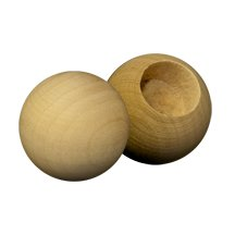 500 Pcs, Wooden Toy Parts Wood Ball Dowel Caps 1-1/4'' Ball With A 5/8'' Hole Used As Doll Head Combine With Clothes Pin (Cpr375) For Body And Use Doll Stand (Cps100) For Feet