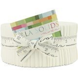 Strips Quilt Fabric (Moda Bella Solids White Bleached 9900-98 Jelly Roll, 40 2.5x44-inch Cotton Fabric Strips)