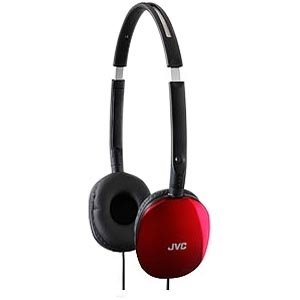 JVC HA-S160 FLATS Headphone - Stereo - Red - Wired - 32 Ohm - 12 Hz 24 kHz - Gold Plated - Over-the-head - Binaural - Ear-cup - 3.93 ft Cable - HAS160R