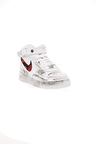 Donna NIKE 5 37 EU Sneakers 314195113CARDIF Bianco Rosso Air Force1 nIpYXrqSI