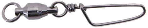 Spro Ball Bearing Swivel with Coast Lock-Pack of 10 (Black, Size - Ball Swivel Bearing 2