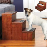 SOLID WOOD NON-SLIP PET STEPS WITH STORAGE