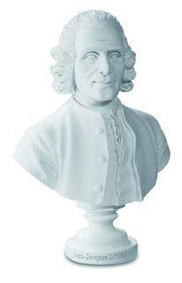bust of rousseau by jean antoine houdon 12.5cm reproduction bricabreizh