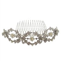 SimanTu Pearl with Crystal Pin/Comb
