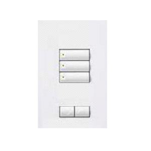 Lutron QSWS2-3BRLN-WH Electrical Distribution Wall Plate White