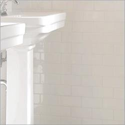 Hammersmith Subway Tile White X Ceramic Floor Tiles - 16 x 16 white ceramic floor tile
