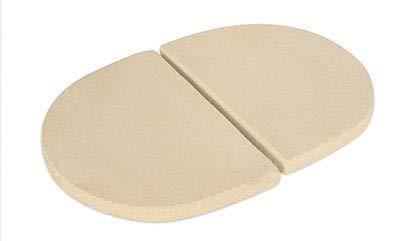 Primo Ceramic Grills Heat Deflector Plates Oval JR 200 (2 pcs.) (Jr Grill Primo)