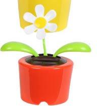 Solar Dancing Flower ''DAISY'' (Bubble Package) - ORANGE Pot