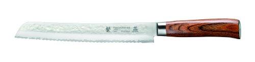 Tamahagane San Tsubame Wood SNH-1118 - 9 inch, 230mm Bread Knife by Tamahagane