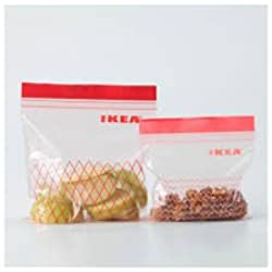 Ikea Sandwich Food Ziploc Bags, Freezer Safe and Reusable (60, 30 x 1 Litre / 30 x 0.4 Litre)
