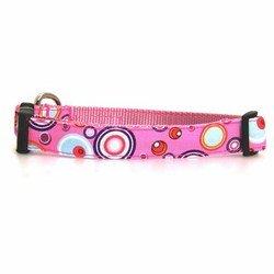 WaLk-e-Woo Martini Dog Collar - Pink ()