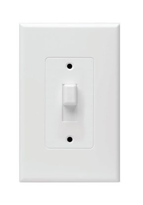 Hubbell Taymac - (10 Pack) 2670W Masque Revive 1 Gang Toggle Cover Up Wall Plate - White