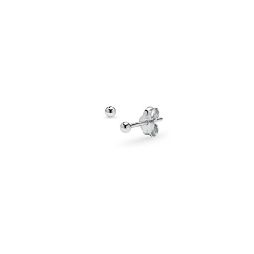 (Bead Ball Tiny Stud Earrings in Sterling Silver 2mm)