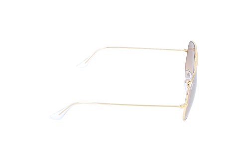 Ray Ban Silver 3025 de Mirroir Crys Gold Lunettes Aviateur Brown Soleil Pink Or Or Rose BBqd6rgw