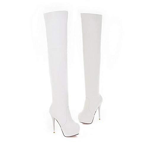 IWxez Damenmode Winter Stiefel PU (Polyurethan) Herbst & Winter Damenmode Stiefel Plattform Weiß Schwarz c0b966