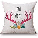 Alphadecor Deer Throw Pillow Case 18 X 18